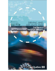 Driving and off-duty time for heavy vehicle drivers