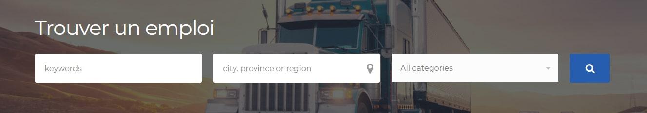 Emploi de camionneur